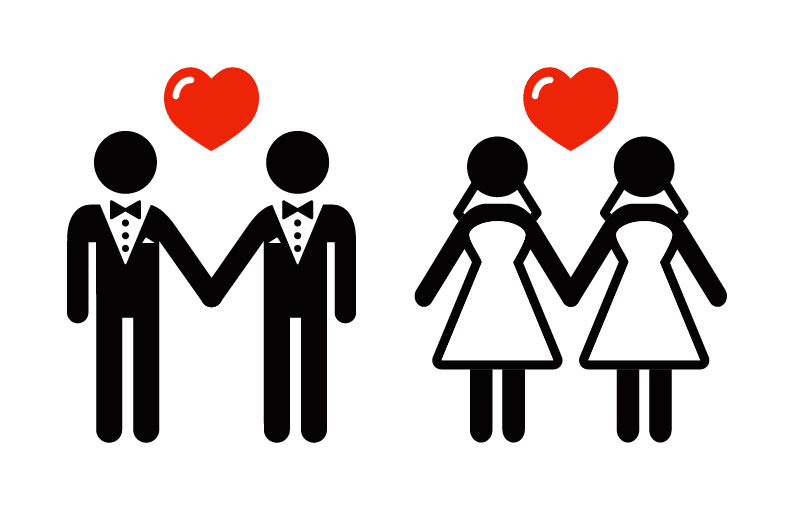 Same sex marriage support symbol