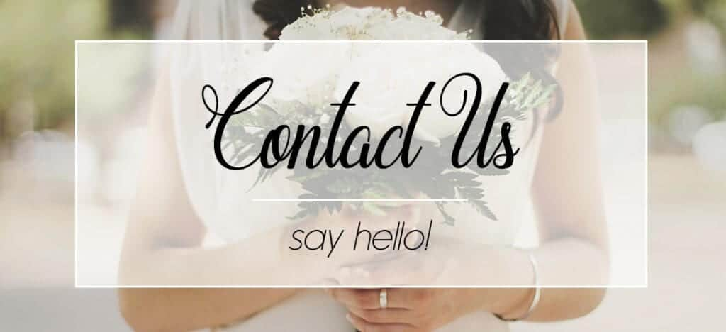 Contact Us Wedding
